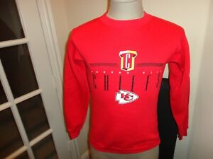 Vtg 90's Red Logo Athletic Kansas City Chiefs 50-50 Sweatshirt Youth M (10-12)