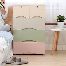 4 Tier Drawer Storage Clothes Organiser Level Office Box Cabinet Coloured