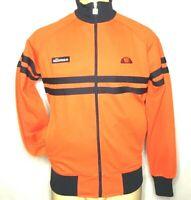 ELLESSE  Roma Track Men Orange/Black Full Zip Jacket Size L (A-29)