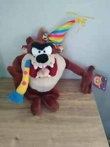 "Tasmanian Devil Taz 14"" Looney Tunes Birthday Plush / Stuffed Animal - New"