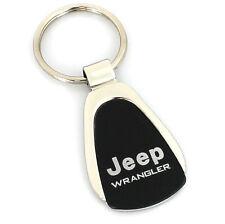 Jeep Wrangler Black Tear Drop Metal Key Ring