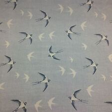 "Fryetts SWALLOW Indigo  "" 100% Cotton Fabric for Curtain/ Upholstery/Crafts"