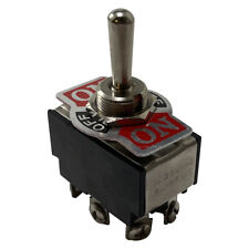 """Heavy Duty Double Pole Momentary ON Off ON Metal Toggle Switch 20A 12V Fit 1/2"""""""