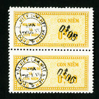 Vietnam Stamps VF OG NH Double Overprint Pair