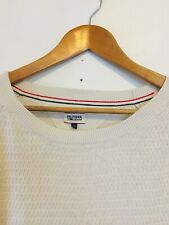 HILFIGER DENIM woman cream cotton knit wear jumper Sweater/ Cream Jumper/ 10-12