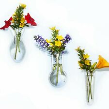 Window Vases - 1 Mini Single-1 Mini Oval-1 Mini Bulb-Attach to windows mirrors