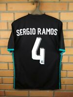 Sergio Ramos Real Madrid Jersey 2017 2018 Away S Shirt BR3543 Soccer Adidas
