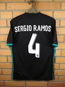 Sergio Ramos Real Madrid Jersey 2017 2018 Away SMALL Shirt BR3543 Soccer Adidas