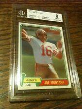 1981 Topps #216 Joe Montana Rookie Card RC BGS 8 NM-MT 49ers HOF LEGEND GOAT WOW