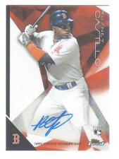 2015 TOPPS FINEST AUTO RUSNEY CASTILLO ROOKIE AUTOGRAPH RED REFRACTOR 5/5