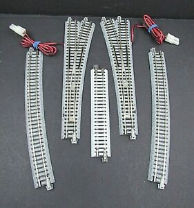 Kato Unitrack - #6 Turnout Lot of 2 - 1 LH/ 1RH - N Scale + Straights & Turns