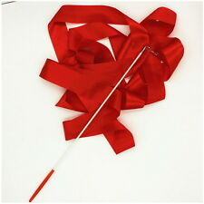 4M Dance Ribbon Gym Rhythmic Art Gymnastic Ballet Streamer Twirling Rod 10 Color