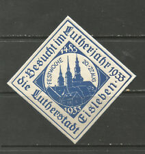 Germany/Eisleben 1933 Festival Week poster stamp (Martin Luther's hometown)