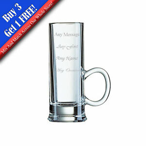 Personalised Engraved Islande Shot Glass With Handle 2oz - Perfect Gift Present
