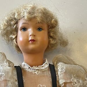 Vintage French Celluloid doll Mohair - Beautiful Face