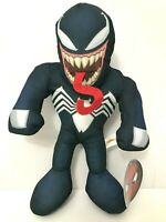 Large 14'' Marvel Plush Venom. Black Toy. Licensed Stuffed Animal . New.
