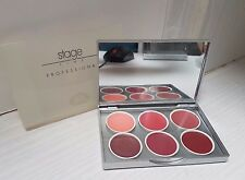 New Boxed Stage Line Professional 6 Lip Colour Pallete With Mirror