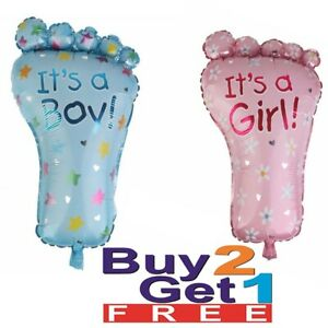 Baby Shower It's a Boy & Girl Foil Letter Foot Balloon Party 44x78cm Decoration