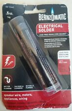 Electrical Solder Lead Free Rosin Core 5 Oz Bernzomatic Brand New Sealed Solder