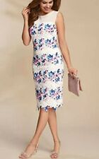 kaleidoscope White Pink Blue Lace Shift Dress Size 12 New