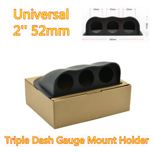 "Auto Universal 2"" 52mm ABS Triple Hole DashBoard Gauge Pod Mount Holder Black"