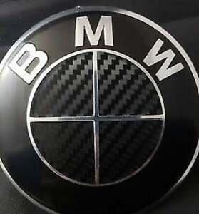 BMW CARBON FIBER Emblem Blackout OVERLAYS Badge Vinyl Decal Sticker Insert Inlay
