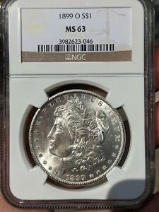 1899-O Morgan Silver Dollar NGC *MS63*