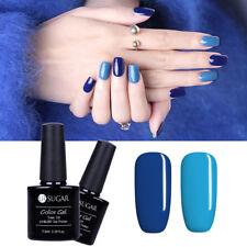 2pcs Gel Nagellack Blue Colors UV Lampe Gellack Maniküre DIY Set 7.5ml UR SUGAR