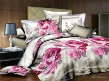 Chic 3D Bedding Sets Flower Printed Duvet Cover Sheet Pillowcase Queen Size 4pc