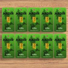 10 Stück Goldbarren je 0,10 Gramm / Gold Barren 0,1g 1g / Nadir / Hologramm NEU