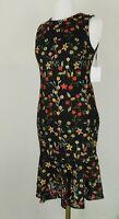 Calvin Klein Floral Embroidered Sleeveless Sheath Dress Size 2 6 10 Retail $169