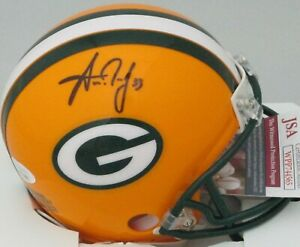 Packers AARON JONES #33 Signed Riddell Mini Helmet AUTO - JSA