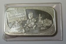 1974 Watergate and Nixons Other Blunders 1oz .999 Fine Silver Bar Us Silver Corp