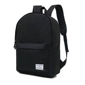 Men Women Backpack Bookbag School Travel Laptop Rucksack Zipper Bag 15.6''