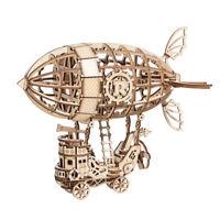Robotime Luftschiff 3D Holzpuzzle Modellbau Geschenk Spielzeug für Kinder Jungen