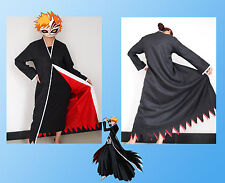 Japanese Anime cosplay costumes Bleach Costume Kurosaki ichigo Cloak Only Size M