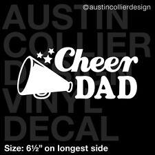 """6.5"""" CHEER DAD vinyl decal car window laptop sticker - cheerleader squad"""