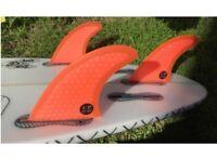 Surf Fins FCS2 Fins G5/G7/G3 Light Blue FCS II Tri Fin Set Fiberglass Surfboard