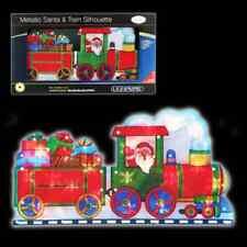 2e996fec5de Tren De Ventana Silueta Santa   Navidad Decoraciones festivas 70460  laterales do.