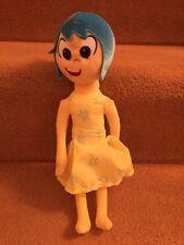 "Disney Pixar Inside Out Joy Soft Toy Plush Blue Hair Yellow Dress Nwot 13"""