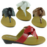 BABY-08 Womens Sandals Wedge Shoes Low Heels Flip Flops Thong Size 5,6,7,8,9,10
