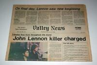 Lennon Killer Charged Dec 1980 Vintage Newspaper John Lennon The Beatles