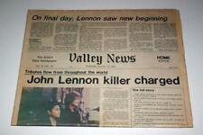 Lennon Killer Charged Dec 1980 Vintage Newspaper John Lennon The Beatles