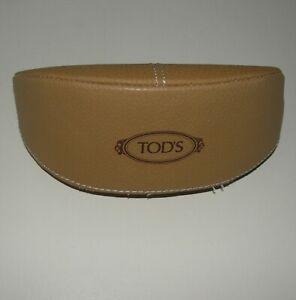 Original Tan TOD'S Unisex Eyeglass Sunglass Case Excellent Condition Eye glass