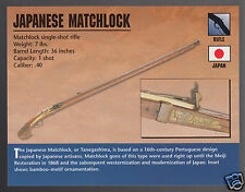 JAPANESE MATCHLOCK RIFLE Tanegashima .40 Gun Atlas Classic Firearms PHOTO CARD
