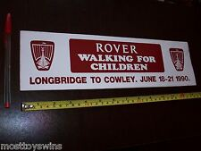 Rover WALKING FOR CHILDREN Sticker Vintage BL Decal 1980's large Longbridge