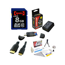 Opteka 8GB Memory Card and LP-E10 Battery Bundle  + More for Canon EOS Rebel T3