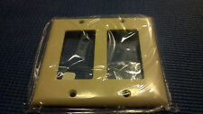 LOT OF 5 Cooper 2152V-BOX 2-Gang 2-Decorator Standard Size Wallplate Ivory 2G