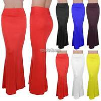 New Ladies Womens Gypsy Long Jersey Maxi Dress Skirt Ladies Skirt Free Size
