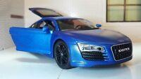 G 1:24 Echelle Bleu Audi R8 V10 32504 Détaillé Exotics Maisto Voiture Miniature